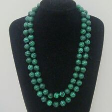 NEW 8/10/12mm Green Malachite Gemstone Bead Round necklace 18-36''