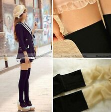 Fashion Sexy Women Black White Tinted Sheer False High Stocking Pantyhose Tights