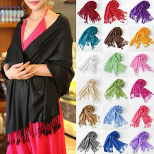 2016 Womens Scarf Pashmina Shawl Faux Solid  Wrap Long  Cashmere Scarves lot   H