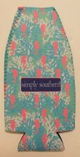 Simply Southern Collection Seahorse Bottle Holder Insulated Koozie