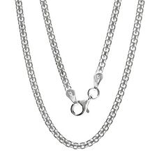 "925 Sterling Silver Bizmark 3 mm Chain Necklace for pendant 18"", 20"", 22"", 24"""