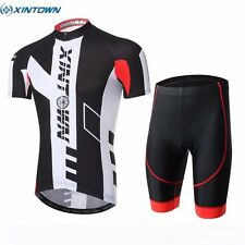 XINTOWN Men Team Short Sleeve Bike Cycling Jersey Bicycle (Bib) Shorts Set