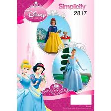 SIMPLICITY SEWING PATTERN Child and Girl Snow White and Cinderella Disney 2817