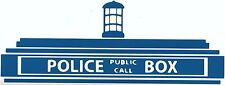 TARDIS Top Image ~ Doctor Who ~ Call Box  Vinyl / Decal  U Pick Size & Color (23