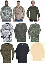 Camouflage Long Sleeve T-Shirt Tactical Military Tee Made in The USA Fox 64-34