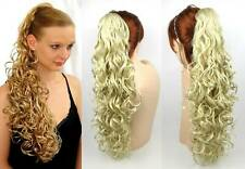 "25"" LONG BIG LOOSE WAVES CURLS CURLY HAIR HAIRDO HAIRPIECE PONYTAIL CLAW CLIP"