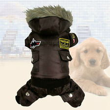 Pet Dog Warm Clothes Winter Jumpsuit Track Suit Puppy Hooded Jacket Hot Trendy