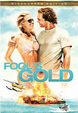 NEW SEALED Fool's Gold (DVD, 2008, WIDESCREEN) KATE HUDSON MATHEW McCONAUGHEY