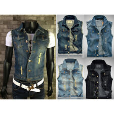 BD Fashion New Men Denim Vest Jeans Vests Slim Fit Mens Sleeveless Plus Jacket