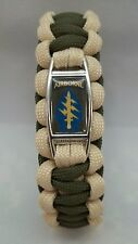 U.S. Army Special Forces GREEN BERETS Paracord SURVIVAL Bracelet AIRBORNE