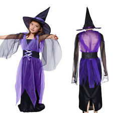 Wonderful Girls Halloween Cosplay Party Fancy Witch Costume Suit Dress