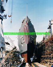 USN Frigate USS JOHN L  HALL FFG-32 Color Photo Navy Military Launch 1981