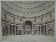Interno del Pantheos Mausoleo Agrippa Rom Albumin-Silber Photographie 1890