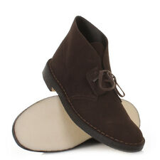 Mens Clarks Desert Boot4 Brown Suede Lace Up Smart Ankle Boots Uk Size