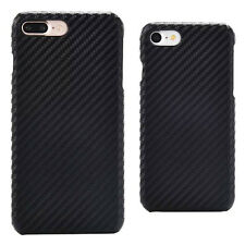 For Iphone 7 7Plus Black Carbon Fiber hard case cover