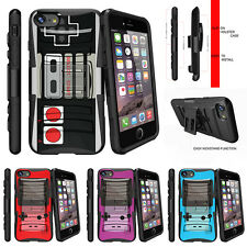 "For Apple iPhone 7 Plus (5.5"") Rugged Holster Clip Stand Case Game Controller"