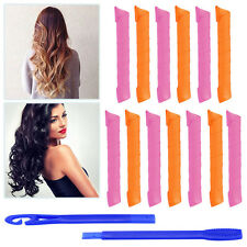 DIY Hair Salon Curlers Rollers Tool 55cm Large Hairdressing Styling Tools 18PCS
