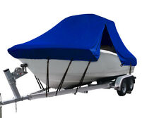 Boat Cover for Key Largo 236 WI CC Center Console T-Top Hard-Top Fishing Blue