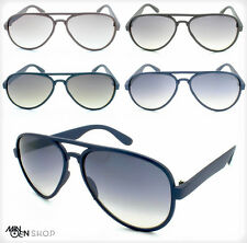 Classic Plastic Aviator Sunglasses Pilot Tear Drop Shape Double Brow Men Women's