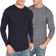 Mens Casual Crewneck Jumper Dissident Pullover Sweater Knitwear MELLOW