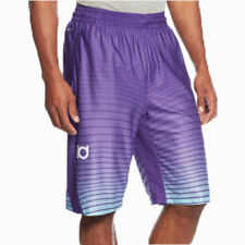NIKE KD Quickness Allover Print Men's Basketball Shorts Bleach Turquoise Purple