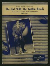 Girl With The Golden Braids 1957 PERRY COMO Sheet Music