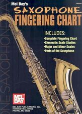 NEW Saxophone Fingering Chart by William Bay Paperback Book (English) Free Shipp