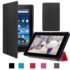Folio Slim Stand Leather Case Cover for Amazon Kindle New Fire 7'' HD8/10 2016