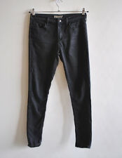 Ladies Topshop LEIGH Black Supersoft Skinny Jeans Low Rise Stretch W30 L30 UK