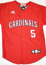 NEW Boys Kids Youth ADIDAS St Louis CARDINALS Red #5 PUJOLS Baseball MLB Jersey