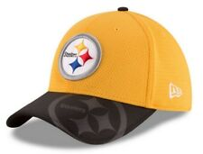 New Era NFL Men's 39Thirty Pittsburgh Steelers Sideline Cap Hat, Gold 11289475