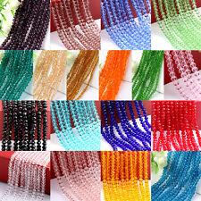 Great 4/6/8/10mm Rondelle Faceted Crystal Glass Loose Beads Diy Findings