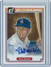 2004 Donruss Hall of Fame Heroes #/500 Stan Musial autographed baseball card STM