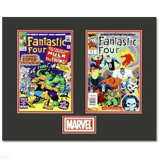 Fantastic Four~Marvel Comics~Matted Limited Edition Lithocel Diptych~COA