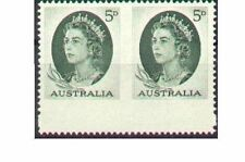 Australia 1963 5d GREEN QUEEN IMPERF PAIR WIDE MARGN SG354b Unhinged Mint
