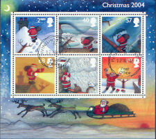 GB 2004 CHRISTMAS MiniSheet Very Fine Used (CTO with gum) SG MS2501