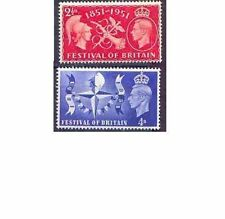 Great Britain 1951 FESTIVAL OF BRITAIN (2) Unhinged Mint SG 513-4