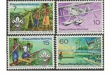 Papua New Guinea 1976 SCOUTING (4) Unhinged Mint SG 309-12