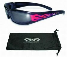 Chicago Flame Padded Sun Glasses-TRANSITION PHOTOCHROMIC LENS or Flash Mirror