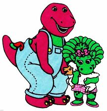 "2.5-4.5"" BARNEY &  BABY BOP ON A FARM CHARACTER CUSTOM  HEAT TRANSFER IRON ON"