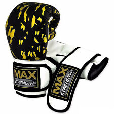 Boxing Gloves Punch Bag Gym Fight Training Mitts Rex Leather MMA Muay Thai Pad