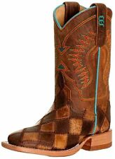 Anderson Bean Western Boots Boys Cowboy Kids Patchwork Tan K1053