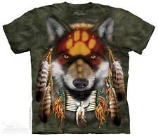 NATIVE WOLF SPIRIT ADULT T-SHIRT THE MOUNTAIN NATIVE AMERICAN