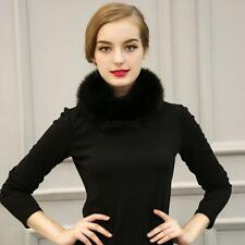 Vogue Women Ladies Faux Fox Fur Collar Scarf Shawl Stole Furry Neck Wrap Circles