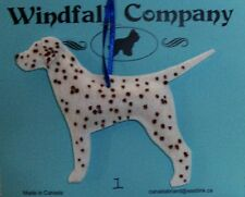 Liver Spotted Dalmatian Dog Velour Plush Christmas Canine Ornament by WC # 1