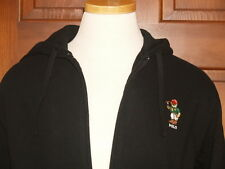 Polo Ralph Lauren Polo Bear Hoodie Ziip Sweatshirt Fleece Black  M L XL XXL NWT