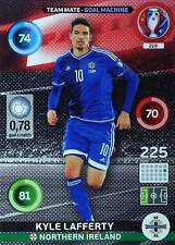 PANINI ADRENALYN UEFA EM 2016 France - NORTHERN IRELAND - LOGO + TEAM MATE Cards