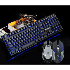 RAJFOO 3 Colors LED Backlit USB Wired Mechanical Gaming Keyboard For Pro Gamer