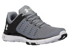 NEW WOMENS UNDER ARMOUR MICRO G LIMITLESS TR 2 CROSS TRAINING SHOES STEEL / BLAC