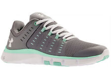 NEW WOMENS UNDER ARMOUR MICRO G LIMITLESS TR 2 CROSS TRAINING SHOES STEEL / CRYS